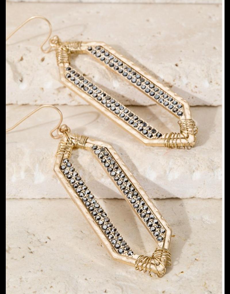 Urbanista Geometric Pave Rhinestone Dangle earrings
