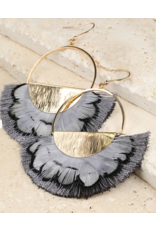 Urbanista Feather and Brushed Metal Earring