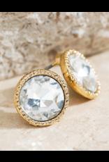 Urbanista Circle shape crystal earrings