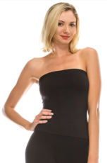 Idea Solid tube top with built-in self bra