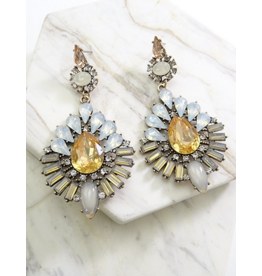 Wall to Wall Luxurious Stone Statement Earrings