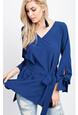 143 STORY Royal V Neck tied Sleeve Top