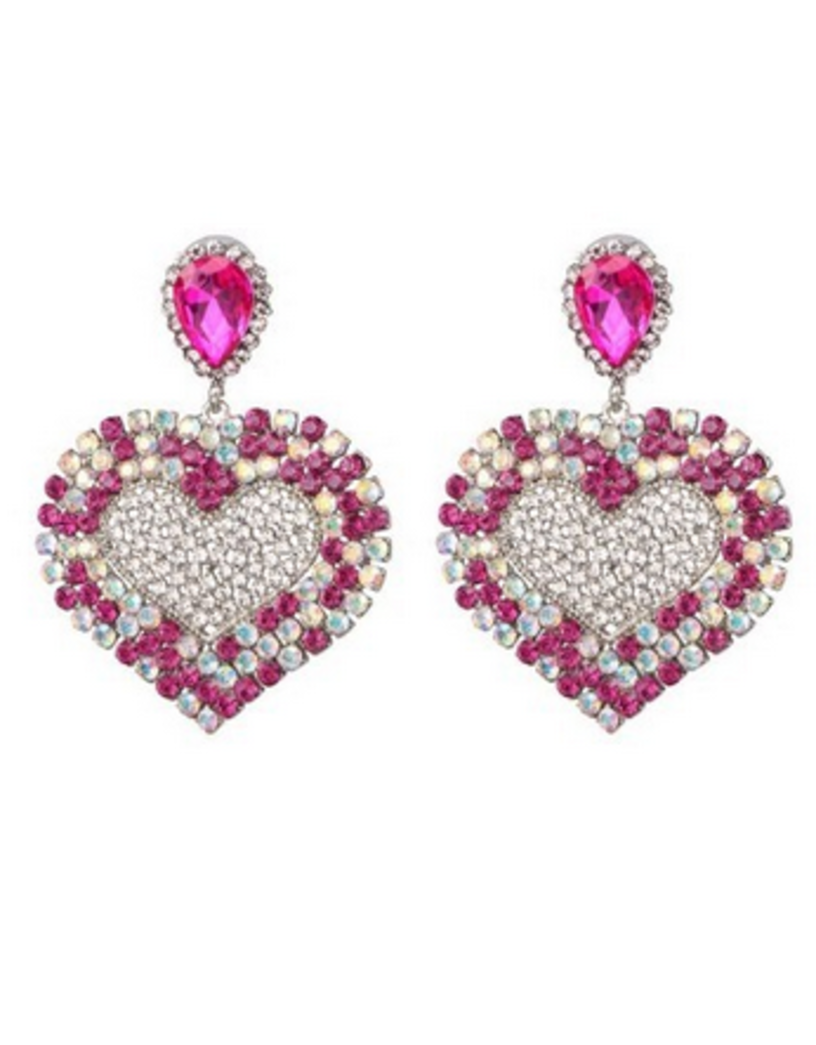 Dilworth Road Crystal heart dangle earrings