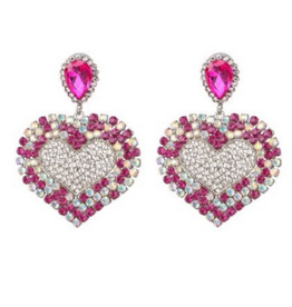Dilworth Road Crystal heart dangle earrings