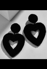 Beautysis Beaded heart earrings