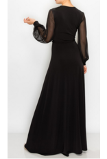 Janette Chiffon Sleeve Maxi Wrap Dress