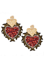 Beautysis Sequin heart earrings