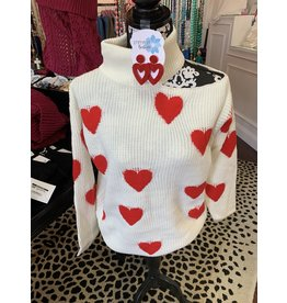 Madison Cut off cold shoulder heart sweater