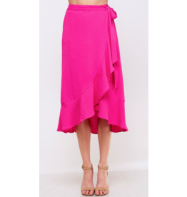VINE AND LOVE Wrap style highlow skirt