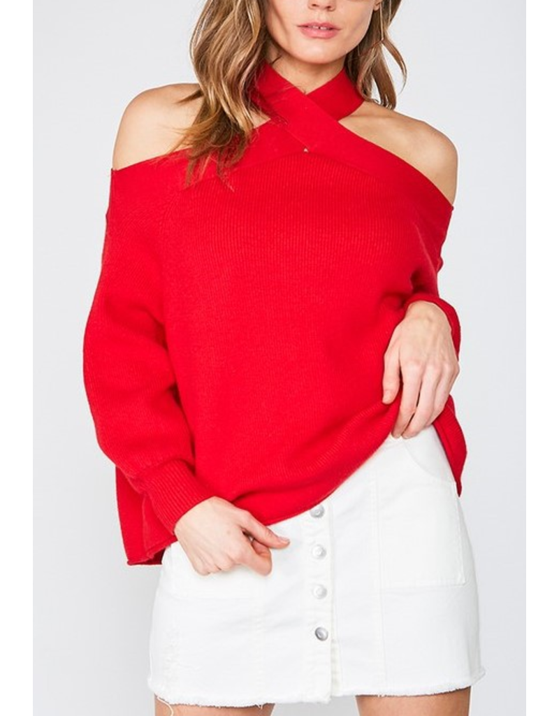 Madison Halter neck cold shoulder top