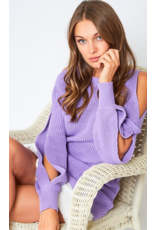 VINE AND LOVE Open sleeve sweater
