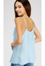 2hearts high neck and low back tank