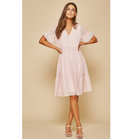 Andree by unit Embroidery babydoll dress