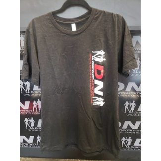 Discount Nutrition DN MEN'S W/SLEEVES CHARCOAL XL VERTICAL LOGO