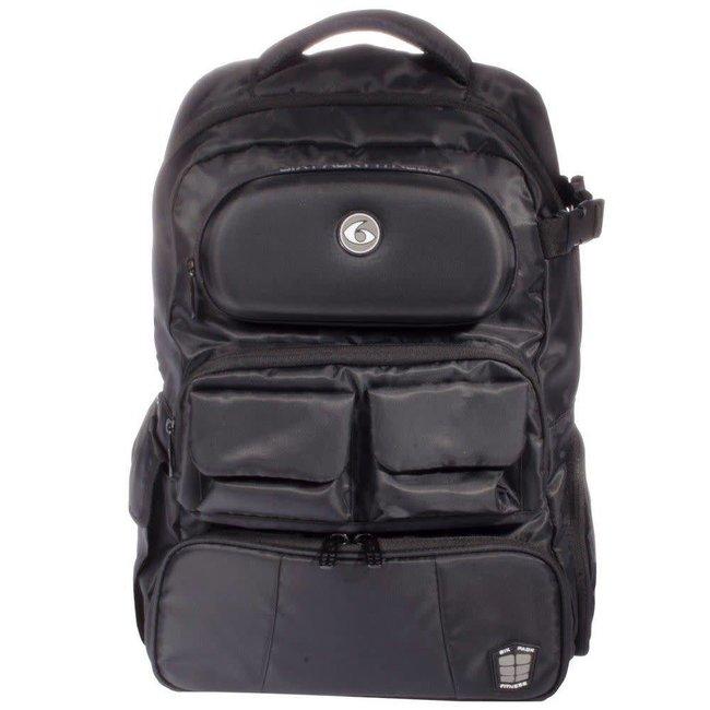 6 Pack Mach 6 Athletic Stealth Black Backpack