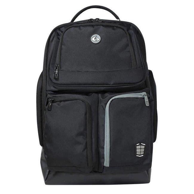 6 Pack Pioneer Athletic Non-Meal Prep Stealth Black Backpack