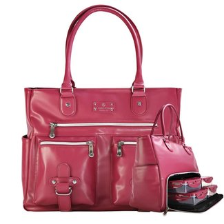 6 Pack Renee Leather Merlot Tote With Insulated Meal Management System