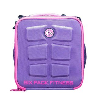6 Pack The Cube Meal Management Purple/Pink Bag