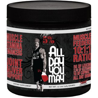 5% Nutrition All Day You May Caffeinated Fruit Punch 25 Servings
