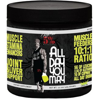 5% Nutrition All Day You May Caffeinated Lemon LIme 25 Servings