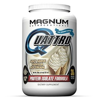 Magnum Nutraceuticals QUATTRO 2 LB Soft Serve Vanilla Ice Cream