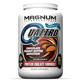 Magnum Nutraceuticals QUATTRO 2 LB Chocolate Peanut Butter Addiction