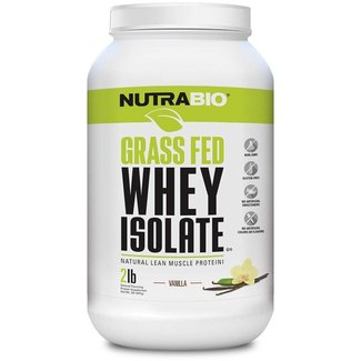 Nutrabio GRASS FED WHEY ISOLATE 2 LB VANILLA