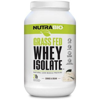 Nutrabio GRASS FED WHEY ISOLATE 2 LB COOKIES & CREAM