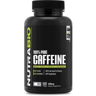 Nutrabio 100% Pure Caffeine 200mg 500 VC