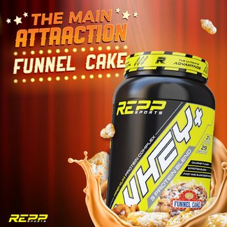 Repp Sports WHEY+ 4 LB FUNNEL CAKE