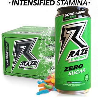 Repp Sports RAZE ENERGY RTD SOUR GUMMY WORMS