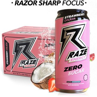 Repp Sports RAZE ENERGY RTD STRAWBERRY COLADA