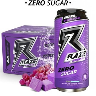 Repp Sports Raze Energy RTD Grape Bubblegum 16 Oz