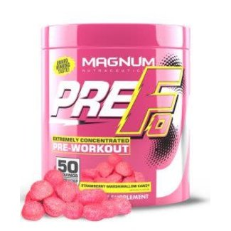 Magnum Nutraceuticals PRE-FO 50 SERVINGS STRAWBERRY MARSHMALLOW CANDY