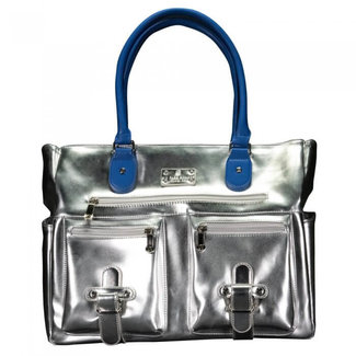 6 Pack 6 Pack Renee Chrome Tote With Blue Handle