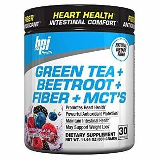 Bpi GREEN TEA+BEETROOT+FIBER+MCT'S 30 SERV BERRY SPLASH