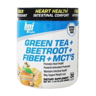 Bpi Green Tea Extract with Beetroot, Fiber and MCT's Tangerine Ice 30 Servings