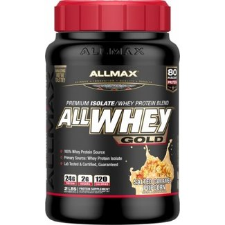 Allmax Nutrition ALLWHEY GOLD 2 LB SALTED CARAMEL POPCORN
