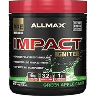 Allmax Nutrition Impact Igniter Green Apple Candy 40 Servings