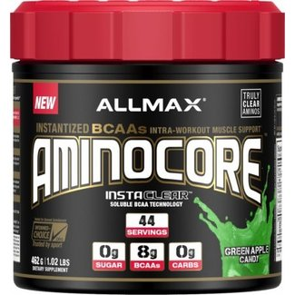 Allmax Nutrition AMINOCORE 44 SERVINGS GREEN APPLE CANDY