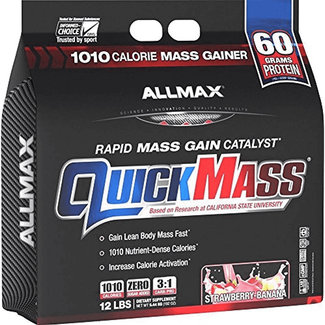 Allmax Nutrition QUICK MASS 12 LB STRAWBERRY/BANANA
