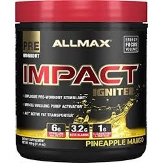 Allmax Nutrition IMPACT IGNITER 40 SERVINGS PINEAPPLE MANGO