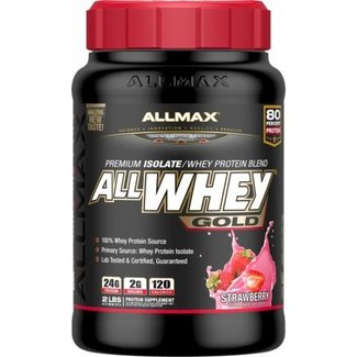 Allmax Nutrition AllWhey Gold Strawberry 2 Lb