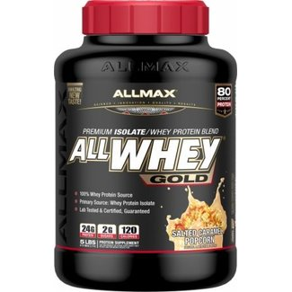 Allmax Nutrition AllWhey Gold Salted Caramel Popcorn 5 Lb