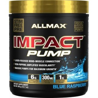Allmax Nutrition IMPACT PUMP 30 SERVINGS  BLUE RASPBERRY