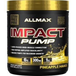 Allmax Nutrition Impact Pump Pineapple Mango 30 Servings