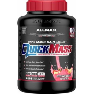 Allmax Nutrition QuickMass Strawberry Banana 6 Lb