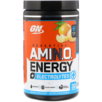 Optimum Nutrition AMIN.O. Energy + Electrolytes Tangerine Wave 30 Servings