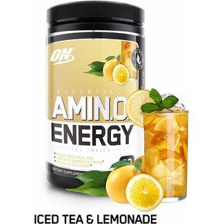 Optimum Nutrition AMIN.O. Energy + Electrolytes Half & Half Lemonade & Iced Tea 30 Servings