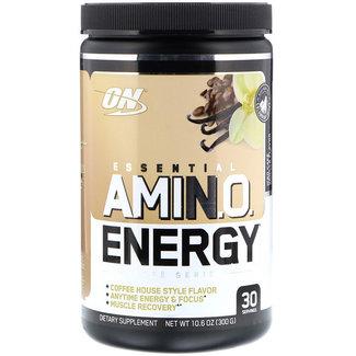 Optimum Nutrition AMIN.O. Energy + Electrolytes Iced Cafe Vanilla 30 Servings